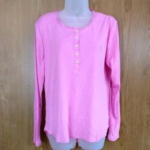 LAUREN Ralph Lauren Long Sleeve Pajama Top